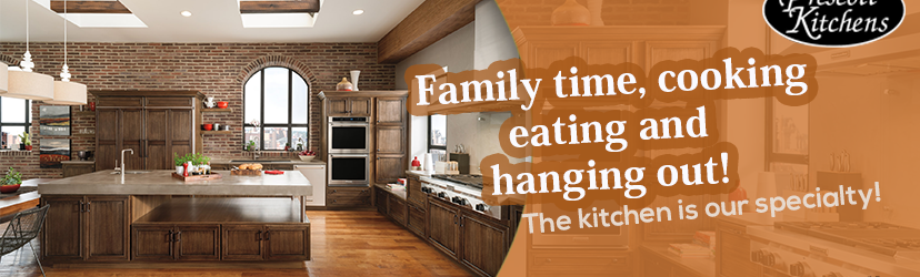 Family time, cooking, eating and hanging out! The kitchen is our specialty.